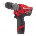 Milwaukee M12 FPDXKIT-202X  Itin kompaktiškas smūginis grąžtas M12™ su nuimamuoju griebtuvu ir priedais