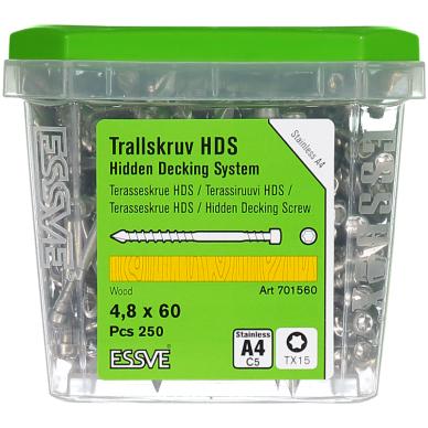 HDS sraigtas terasai 4,8x60 A4  3
